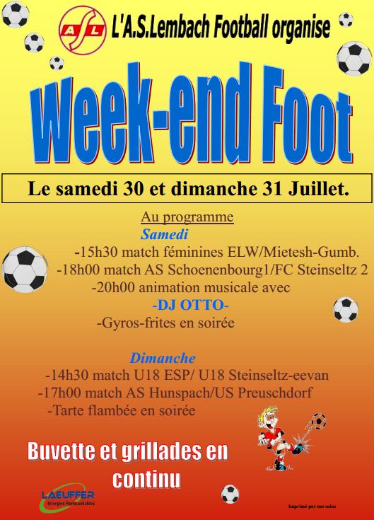 Week-end Foot 30 07 2016